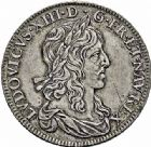 Photo numismatique  ARCHIVES VENTE 2015 -26-28 oct -Coll Jean Teitgen ROYALES FRANCAISES LOUIS XIII (16 mai 1610-14 mai 1643)  279- Demi-écu d'argent de 30 sols, 2ème type de Warin, Paris 1642.