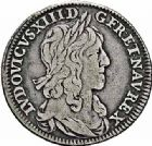 Photo numismatique  ARCHIVES VENTE 2015 -26-28 oct -Coll Jean Teitgen ROYALES FRANCAISES LOUIS XIII (16 mai 1610-14 mai 1643)  280- Quart d'écu de 15 sols 2ème type de Warin, Paris 1642.