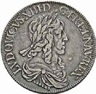 Photo numismatique  ARCHIVES VENTE 2015 -26-28 oct -Coll Jean Teitgen ROYALES FRANCAISES LOUIS XIII (16 mai 1610-14 mai 1643)  283- Écu d'argent de 60 sols, 3ème type de Warin, Paris 1643.