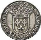 Photo numismatique  ARCHIVES VENTE 2015 -26-28 oct -Coll Jean Teitgen ROYALES FRANCAISES LOUIS XIII (16 mai 1610-14 mai 1643)  287- Douzième d'écu de 5 sols, 3ème type de Warin, Paris 1642, 1643.