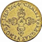 Photo numismatique  ARCHIVES VENTE 2015 -26-28 oct -Coll Jean Teitgen ROYALES FRANCAISES LOUIS XIV (14 mai 1643-1er septembre 1715)  297- Écu d'or, Paris 1644.