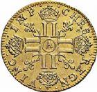 Photo numismatique  ARCHIVES VENTE 2015 -26-28 oct -Coll Jean Teitgen ROYALES FRANCAISES LOUIS XIV (14 mai 1643-1er septembre 1715)  301- Louis d'or à la mèche longue, Paris 1651.