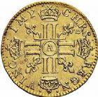 Photo numismatique  ARCHIVES VENTE 2015 -26-28 oct -Coll Jean Teitgen ROYALES FRANCAISES LOUIS XIV (14 mai 1643-1er septembre 1715)  302- 1/2 louis d'or à la mèche longue, Paris 1646.