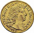 Photo numismatique  ARCHIVES VENTE 2015 -26-28 oct -Coll Jean Teitgen ROYALES FRANCAISES LOUIS XIV (14 mai 1643-1er septembre 1715)  305- Louis d'or à la tête nue, Paris 1680.