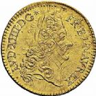 Photo numismatique  ARCHIVES VENTE 2015 -26-28 oct -Coll Jean Teitgen ROYALES FRANCAISES LOUIS XIV (14 mai 1643-1er septembre 1715)  307- Double louis d'or à l'écu, Paris 1693.