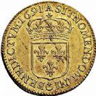 Photo numismatique  ARCHIVES VENTE 2015 -26-28 oct -Coll Jean Teitgen ROYALES FRANCAISES LOUIS XIV (14 mai 1643-1er septembre 1715)  308- Louis d'or à l'écu, Paris 1691.