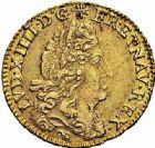 Photo numismatique  ARCHIVES VENTE 2015 -26-28 oct -Coll Jean Teitgen ROYALES FRANCAISES LOUIS XIV (14 mai 1643-1er septembre 1715)  309- 1/2 louis d'or à l'écu, Lyon 1691.