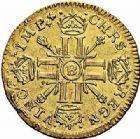 Photo numismatique  ARCHIVES VENTE 2015 -26-28 oct -Coll Jean Teitgen ROYALES FRANCAISES LOUIS XIV (14 mai 1643-1er septembre 1715)  314- Louis d'or aux huit L et aux insignes, Rouen 1701.