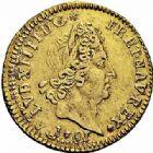 Photo numismatique  ARCHIVES VENTE 2015 -26-28 oct -Coll Jean Teitgen ROYALES FRANCAISES LOUIS XIV (14 mai 1643-1er septembre 1715)  315- 1/2 louis d'or aux huit L et aux insignes, Paris 1701.