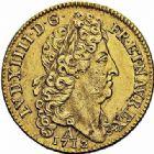 Photo numismatique  ARCHIVES VENTE 2015 -26-28 oct -Coll Jean Teitgen ROYALES FRANCAISES LOUIS XIV (14 mai 1643-1er septembre 1715)  319- Double louis d'or au soleil, Paris 1712.