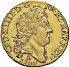Photo numismatique  ARCHIVES VENTE 2015 -26-28 oct -Coll Jean Teitgen ROYALES FRANCAISES LOUIS XIV (14 mai 1643-1er septembre 1715)  320- Louis d'or au soleil, Paris 1709.
