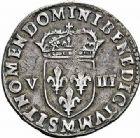 Photo numismatique  ARCHIVES VENTE 2015 -26-28 oct -Coll Jean Teitgen ROYALES FRANCAISES LOUIS XIV (14 mai 1643-1er septembre 1715)  324- 1/8ème d'écu, 1er type, Toulouse 1644.
