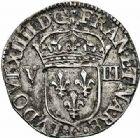 Photo numismatique  ARCHIVES VENTE 2015 -26-28 oct -Coll Jean Teitgen ROYALES FRANCAISES LOUIS XIV (14 mai 1643-1er septembre 1715)  325- 1/8ème d'écu, 1er type, Poitiers 1644.