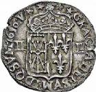 Photo numismatique  ARCHIVES VENTE 2015 -26-28 oct -Coll Jean Teitgen ROYALES FRANCAISES LOUIS XIV (14 mai 1643-1er septembre 1715)  327- 1/4 d'écu de Navarre, Saint-Palais 1650.