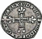 Photo numismatique  ARCHIVES VENTE 2015 -26-28 oct -Coll Jean Teitgen ROYALES FRANCAISES LOUIS XIV (14 mai 1643-1er septembre 1715)  328- 1/8ème d'écu de Navarre, Saint-Palais 1648.