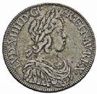 Photo numismatique  ARCHIVES VENTE 2015 -26-28 oct -Coll Jean Teitgen ROYALES FRANCAISES LOUIS XIV (14 mai 1643-1er septembre 1715)  331- Écu à la mèche courte, Paris 1644.