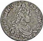Photo numismatique  ARCHIVES VENTE 2015 -26-28 oct -Coll Jean Teitgen ROYALES FRANCAISES LOUIS XIV (14 mai 1643-1er septembre 1715)  332- 1/2 écu à la mèche courte, Paris 1644.