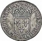Photo numismatique  ARCHIVES VENTE 2015 -26-28 oct -Coll Jean Teitgen ROYALES FRANCAISES LOUIS XIV (14 mai 1643-1er septembre 1715)  333- 1/4 écu à la mèche courte, Paris 1644.