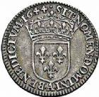 Photo numismatique  ARCHIVES VENTE 2015 -26-28 oct -Coll Jean Teitgen ROYALES FRANCAISES LOUIS XIV (14 mai 1643-1er septembre 1715)  334- 1/12ème d'écu à la mèche courte, Paris 1644.
