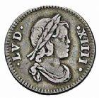 Photo numismatique  ARCHIVES VENTE 2015 -26-28 oct -Coll Jean Teitgen ROYALES FRANCAISES LOUIS XIV (14 mai 1643-1er septembre 1715)  336- 1/24ème d'écu à la mèche courte au buste drapé, Paris 1644.