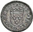 Photo numismatique  ARCHIVES VENTE 2015 -26-28 oct -Coll Jean Teitgen ROYALES FRANCAISES LOUIS XIV (14 mai 1643-1er septembre 1715)  337- 1/48ème d'écu à la mèche courte au buste drapé, Paris 1644.