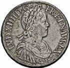 Photo numismatique  ARCHIVES VENTE 2015 -26-28 oct -Coll Jean Teitgen ROYALES FRANCAISES LOUIS XIV (14 mai 1643-1er septembre 1715)  338- Écu à la mèche longue, Paris 1652.