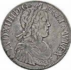 Photo numismatique  ARCHIVES VENTE 2015 -26-28 oct -Coll Jean Teitgen ROYALES FRANCAISES LOUIS XIV (14 mai 1643-1er septembre 1715)  339- Écu à la mèche longue, Paris 1652, transformé en boîte.