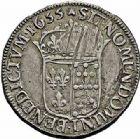 Photo numismatique  ARCHIVES VENTE 2015 -26-28 oct -Coll Jean Teitgen ROYALES FRANCAISES LOUIS XIV (14 mai 1643-1er septembre 1715)  343- 1/2 écu de Navarre à la mèche longue, Saint-Palais 1655.