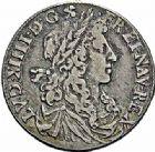 Photo numismatique  ARCHIVES VENTE 2015 -26-28 oct -Coll Jean Teitgen ROYALES FRANCAISES LOUIS XIV (14 mai 1643-1er septembre 1715)  352- 1/4 d'écu au buste juvénile, Montpellier 1668.
