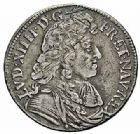 Photo numismatique  ARCHIVES VENTE 2015 -26-28 oct -Coll Jean Teitgen ROYALES FRANCAISES LOUIS XIV (14 mai 1643-1er septembre 1715)  362- 1/4 d'écu à la cravate, 1er type, Aix 1679.