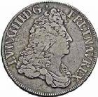 Photo numismatique  ARCHIVES VENTE 2015 -26-28 oct -Coll Jean Teitgen ROYALES FRANCAISES LOUIS XIV (14 mai 1643-1er septembre 1715)  367- Écu à la perruque (faussement appelé «écu blanc»), Rennes, 1687.