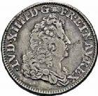 Photo numismatique  ARCHIVES VENTE 2015 -26-28 oct -Coll Jean Teitgen ROYALES FRANCAISES LOUIS XIV (14 mai 1643-1er septembre 1715)  371- 1/4 écu de Flandre (dit «carambole»), Lille, 1686.