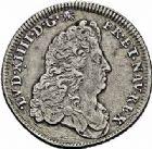 Photo numismatique  ARCHIVES VENTE 2015 -26-28 oct -Coll Jean Teitgen ROYALES FRANCAISES LOUIS XIV (14 mai 1643-1er septembre 1715)  372- 1/8ème d'écu de Flandre (dit «carambole»), Lille, 1688.