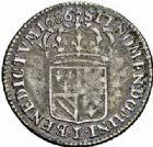 Photo numismatique  ARCHIVES VENTE 2015 -26-28 oct -Coll Jean Teitgen ROYALES FRANCAISES LOUIS XIV (14 mai 1643-1er septembre 1715)  373- 1/16ème d'écu de Flandre (dit «carambole»), Lille, 1686.