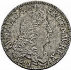 Photo numismatique  ARCHIVES VENTE 2015 -26-28 oct -Coll Jean Teitgen ROYALES FRANCAISES LOUIS XIV (14 mai 1643-1er septembre 1715)  375- 1/2 écu aux huit L, Paris 1691.