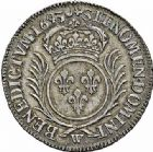Photo numismatique  ARCHIVES VENTE 2015 -26-28 oct -Coll Jean Teitgen ROYALES FRANCAISES LOUIS XIV (14 mai 1643-1er septembre 1715)  379- 1/2 écu aux palmes, Lille 1693.