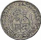 Photo numismatique  ARCHIVES VENTE 2015 -26-28 oct -Coll Jean Teitgen ROYALES FRANCAISES LOUIS XIV (14 mai 1643-1er septembre 1715)  381- Écu de Béarn aux palmes, Pau 1694.
