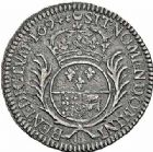 Photo numismatique  ARCHIVES VENTE 2015 -26-28 oct -Coll Jean Teitgen ROYALES FRANCAISES LOUIS XIV (14 mai 1643-1er septembre 1715)  382- 1/2 écu de Béarn aux palmes, Pau 1694.