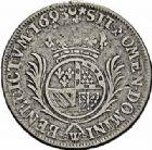 Photo numismatique  ARCHIVES VENTE 2015 -26-28 oct -Coll Jean Teitgen ROYALES FRANCAISES LOUIS XIV (14 mai 1643-1er septembre 1715)  384- 1/2 écu de Flandre aux palmes (dit «carambole»), Lille 1693.