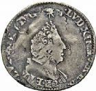 Photo numismatique  ARCHIVES VENTE 2015 -26-28 oct -Coll Jean Teitgen ROYALES FRANCAISES LOUIS XIV (14 mai 1643-1er septembre 1715)  387- 1/16ème d'écu de Flandre aux palmes (dit «carambole»), Lille (…).