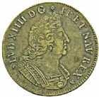 Photo numismatique  ARCHIVES VENTE 2015 -26-28 oct -Coll Jean Teitgen ROYALES FRANCAISES LOUIS XIV (14 mai 1643-1er septembre 1715)  388- Médaille du fort de Chapus ou frappe en cuivre de l'écu à la Sécurité du littoral, La Rochelle 1694.