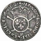 Photo numismatique  ARCHIVES VENTE 2015 -26-28 oct -Coll Jean Teitgen ROYALES FRANCAISES LOUIS XIV (14 mai 1643-1er septembre 1715)  392- 1/12ème d'écu aux insignes, Dijon 1702.