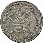 Photo numismatique  ARCHIVES VENTE 2015 -26-28 oct -Coll Jean Teitgen ROYALES FRANCAISES LOUIS XIV (14 mai 1643-1er septembre 1715)  394- 1/2 écu de Béarn aux insignes, Pau 1702.