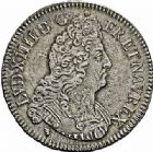 Photo numismatique  ARCHIVES VENTE 2015 -26-28 oct -Coll Jean Teitgen ROYALES FRANCAISES LOUIS XIV (14 mai 1643-1er septembre 1715)  396- Écu aux huit L du 2ème type, Lyon 1704.