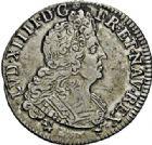 Photo numismatique  ARCHIVES VENTE 2015 -26-28 oct -Coll Jean Teitgen ROYALES FRANCAISES LOUIS XIV (14 mai 1643-1er septembre 1715)  397- 1/2 écu et 1/4 d'écu aux huit L du 2ème type, Reims (?) 1704 et Rennes 1704.