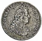 Photo numismatique  ARCHIVES VENTE 2015 -26-28 oct -Coll Jean Teitgen ROYALES FRANCAISES LOUIS XIV (14 mai 1643-1er septembre 1715)  398- 1/12ème d'écu aux huit L du 2ème type, Paris 1705.