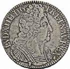 Photo numismatique  ARCHIVES VENTE 2015 -26-28 oct -Coll Jean Teitgen ROYALES FRANCAISES LOUIS XIV (14 mai 1643-1er septembre 1715)  403- Écu aux trois couronnes, Rennes 1711.