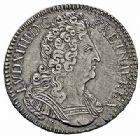 Photo numismatique  ARCHIVES VENTE 2015 -26-28 oct -Coll Jean Teitgen ROYALES FRANCAISES LOUIS XIV (14 mai 1643-1er septembre 1715)  404- 1/2 écu aux trois couronnes, Lyon 1709.