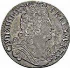 Photo numismatique  ARCHIVES VENTE 2015 -26-28 oct -Coll Jean Teitgen ROYALES FRANCAISES LOUIS XIV (14 mai 1643-1er septembre 1715)  405- 1/4 d'écu aux trois couronnes, Bayonne 1711.