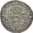 Photo numismatique  ARCHIVES VENTE 2015 -26-28 oct -Coll Jean Teitgen ROYALES FRANCAISES LOUIS XIV (14 mai 1643-1er septembre 1715)  407- 1/10ème d'écu aux trois couronnes, Pau 1713.
